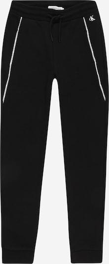 Calvin Klein Jeans Pantalon en noir / blanc, Vue avec produit