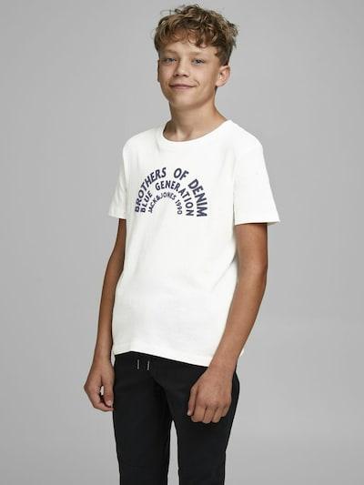 Jack & Jones Junior Shirt in de kleur Zwart / Wit: Vooraanzicht