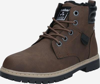 Auliniai batai su kulniuku iš s.Oliver Junior , spalva - ruda / juoda, Prekių apžvalga