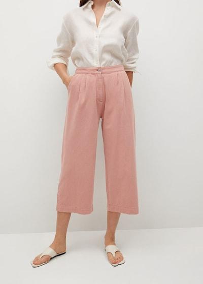 MANGO Hose 'Rustic' in pink, Modelansicht