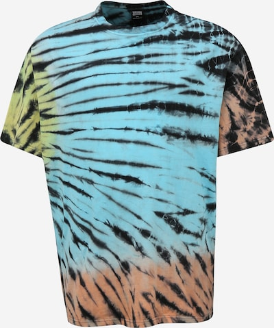 Urban Classics Big & Tall Тениска в синьо / жълто / червено / черно, Преглед на продукта