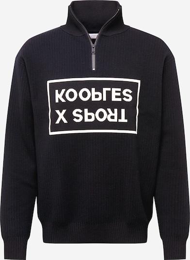 THE KOOPLES SPORT Sweatshirt in de kleur Zwart / Wit, Productweergave