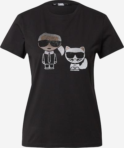 Karl Lagerfeld Paita 'Ikonik' värissä beige / musta / valkoinen, Tuotenäkymä