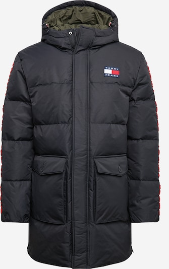 Tommy Jeans Talveparka punane / must, Tootevaade