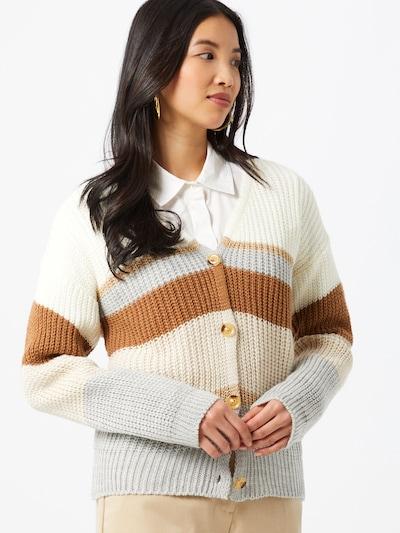 Hailys Strickjacke 'Misa' in beige / braun / grau / weiß, Modelansicht