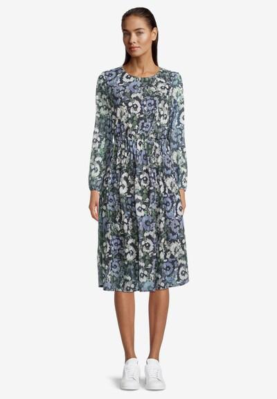 Betty & Co Freizeitkleid mit Blumenprint in dunkelblau / grün, Modelansicht