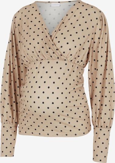 MAMALICIOUS Shirt 'MLCELINA' in de kleur Beige / Zwart, Productweergave