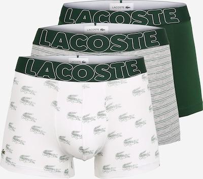 szürke melír / zöld / fehér LACOSTE Boxeralsók, Termék nézet