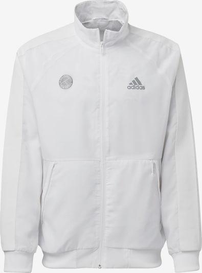 ADIDAS PERFORMANCE Sportjacke in silber / weiß, Produktansicht
