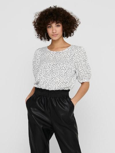ONLY Blouse 'Karma' in de kleur Zwart / Wit, Modelweergave