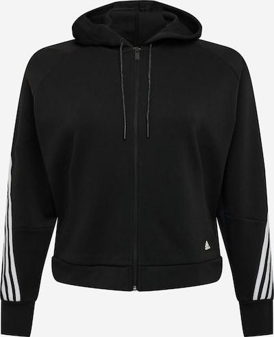 ADIDAS PERFORMANCE Sudadera con cremallera deportiva en negro / blanco, Vista del producto