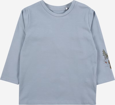 NAME IT Shirt 'BODAR' in hellblau / hellgrün: Frontalansicht