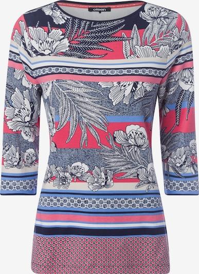 Olsen Shirt 'Edda' in marine / koralle / weiß, Produktansicht