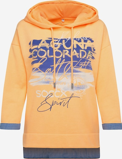 Soccx Hoodie mit Artwork und Kontrast-Details in orange, Produktansicht