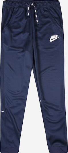 Nike Sportswear Broek in de kleur Navy / Wit, Productweergave