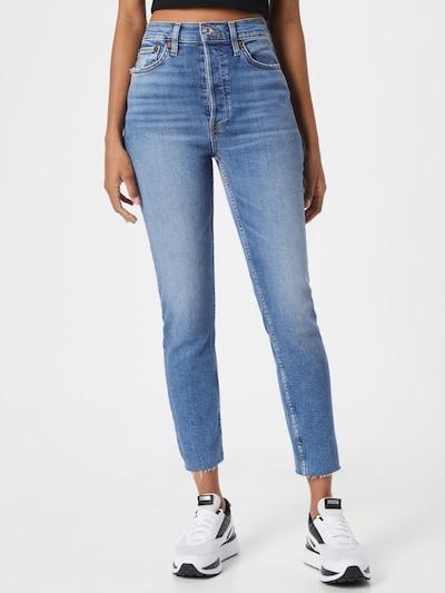 RE/DONE Jeans in de kleur Blauw denim, Modelweergave