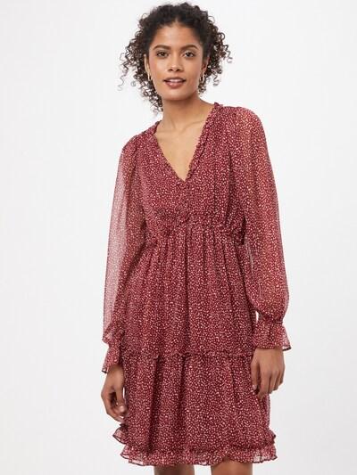 VERO MODA Kleid 'MILLE' in bordeaux / weiß, Modelansicht
