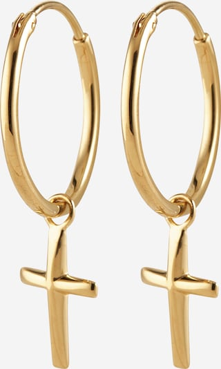 ELLI Ohrringe 'Kreuz' in gold, Produktansicht