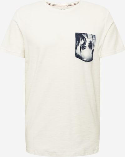 BLEND Camiseta en azul cobalto / blanco natural, Vista del producto