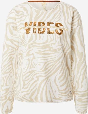 Key Largo Sweatshirt 'Groove' in Beige