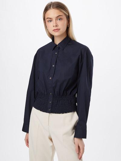 Bluză JNBY pe bleumarin / alb, Vizualizare model
