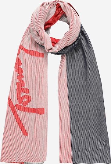 Tommy Jeans Schal in grau / melone / weiß, Produktansicht