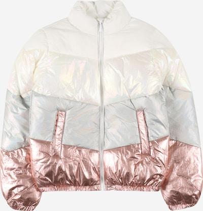 KIDS ONLY Winterjas in de kleur Rose-goud / Grijs / Wit, Productweergave