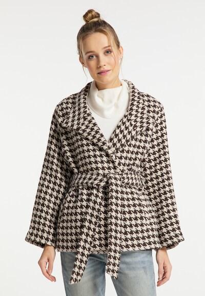 DreiMaster Vintage Mantel in beige / braun / weiß, Modelansicht