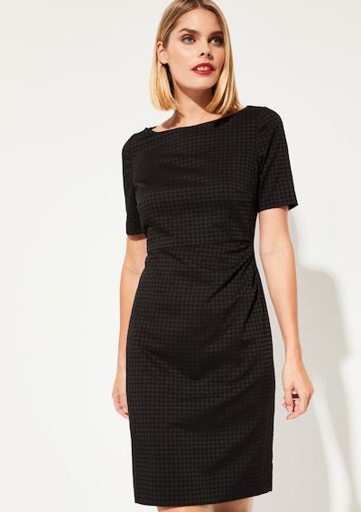 COMMA Kurzarmkleid in schwarz, Modelansicht