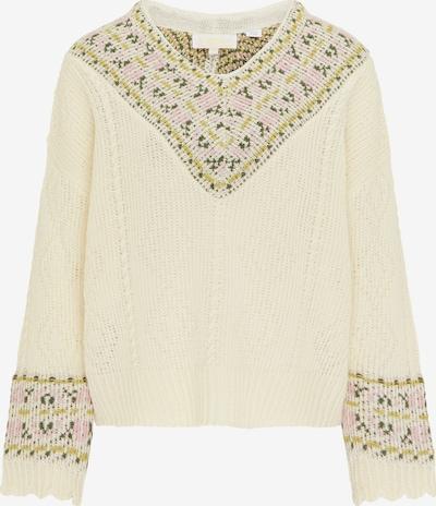 usha FESTIVAL Pullover in beige / hellgrün / hellpink, Produktansicht