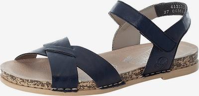 RIEKER Sandale in beige / dunkelblau, Produktansicht