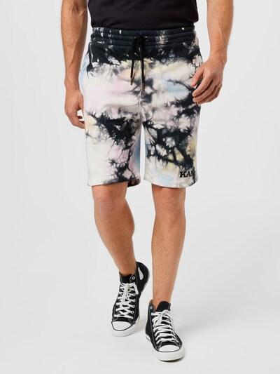 Pantaloni Karl Kani di colore beige / blu scuro / rosa / offwhite, Visualizzazione modelli