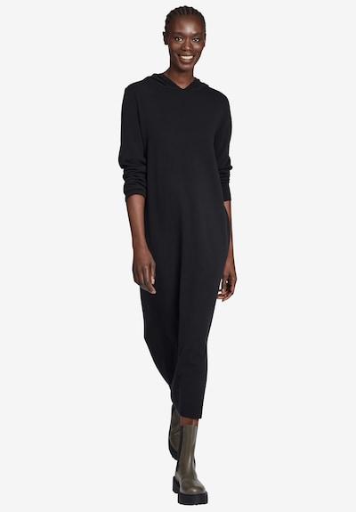 Cartoon Casual-Kleid mit Kapuze in schwarz, Modelansicht
