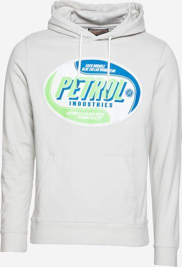 Petrol Industries Sweatshirt in de kleur Hemelsblauw / Appel / Natuurwit, Productweergave