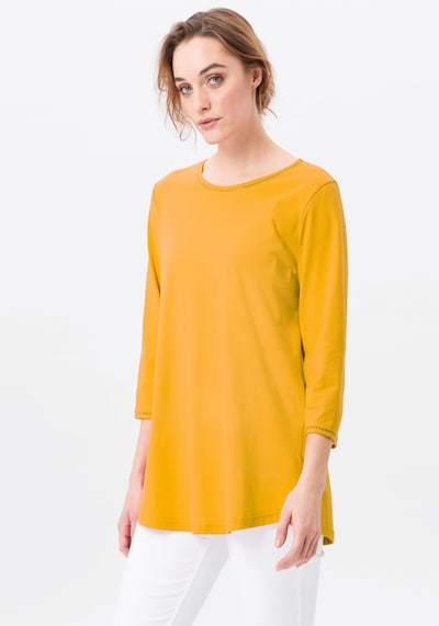 Green Cotton 3/4-Arm-Shirt in gelb: Frontalansicht