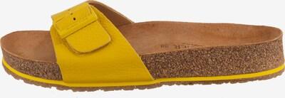 HAFLINGER Pantolette in braun / gelb, Produktansicht