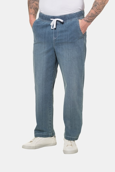 JP1880 Hose in blue denim, Modelansicht