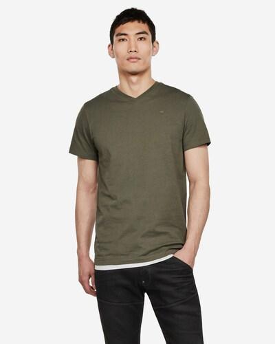 G-Star RAW Shirt in de kleur Olijfgroen: Vooraanzicht