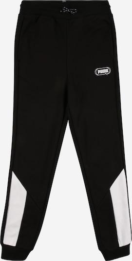 PUMA Hose 'Rebel' in schwarz / weiß, Produktansicht