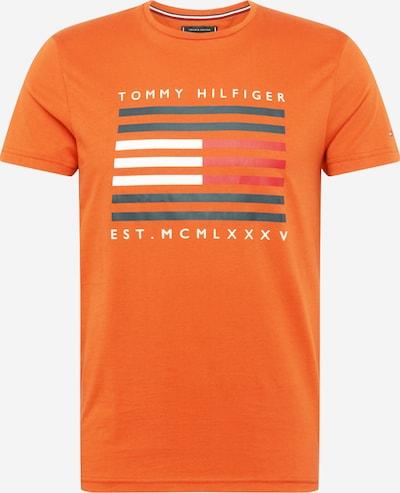 Maglietta TOMMY HILFIGER di colore blu notte / arancione / bianco: Vista frontale