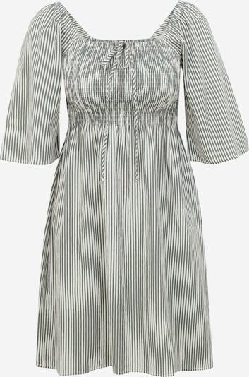 Vero Moda Petite Robe 'ANNABELLE' en vert / blanc, Vue avec produit