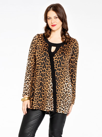 Yoek Tunika ' Leopard ' in braun, Modelansicht