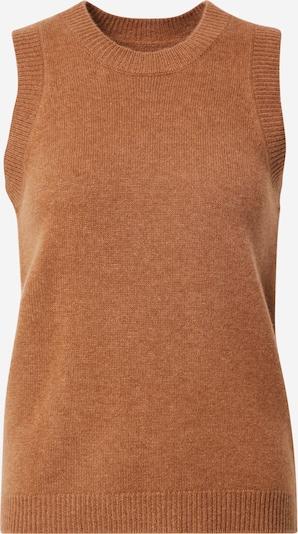 2NDDAY Gebreide bodywarmer 'Layton' in de kleur Karamel, Productweergave