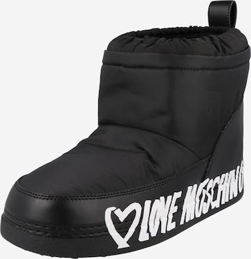melns Love Moschino Sniega apavi