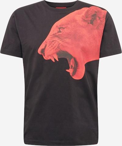 Maglietta 'Denbei' HUGO di colore rosso / nero, Visualizzazione prodotti