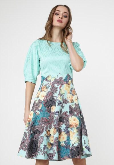 Madam-T Sommerkleid in blau / mischfarben, Modelansicht