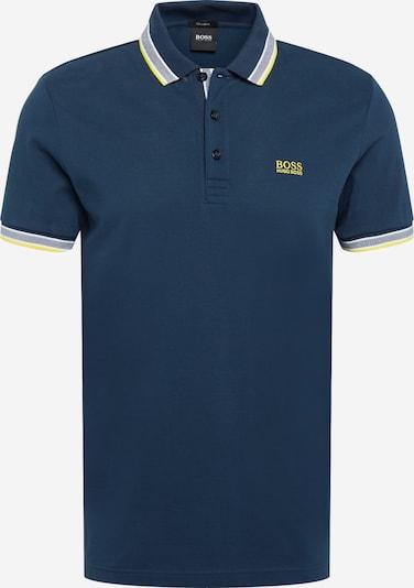 BOSS ATHLEISURE Paita 'Paddy' värissä laivastonsininen / keltainen / valkoinen, Tuotenäkymä