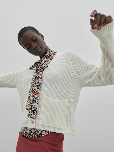 fehér EDITED Kardigán 'Lamis', Modell nézet