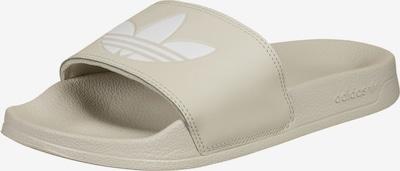 ADIDAS ORIGINALS Cipele za plažu/kupanje 'Adilette' u sivkasto bež / bijela, Pregled proizvoda