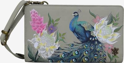 ANUSCHKA Handbemalte Brieftasche 'Peacock' in mischfarben, Produktansicht
